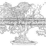 Bonsai Wishes -Coloring Page