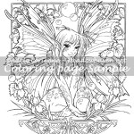 Fairy Bubbles -Coloring Page