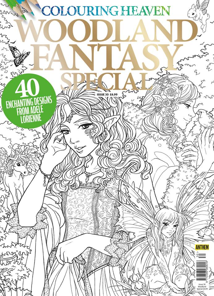 Woodland Fantasy Colouring Heaven Magazine