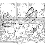 Clover Morning -Coloring Page