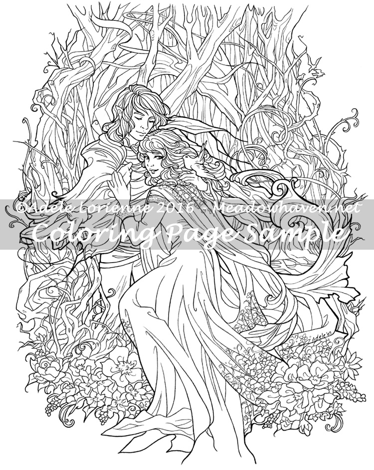 Love Birds -Coloring Page | MeadowHaven