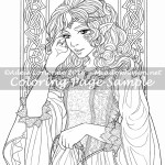 Elf Princess -Coloring Page