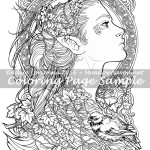 Elvish -Coloring Page