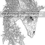 Forest Fantasy Giraffe -Coloring Page