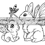 Flutterbunnies -Coloring Page