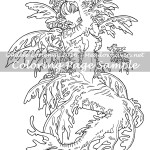 Leafy Mermaid - Coloring Page