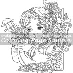 Little Minstrel -Coloring Page