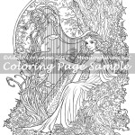 Spring Song -Coloring Page