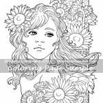 Sunflowers -Coloring Page