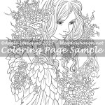 Sweet Blossoms -Coloring Page