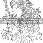Warrior -Coloring Page