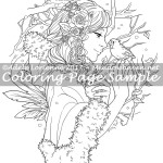 Winter Rose -Coloring Page